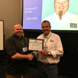 Gabe Forest received the Franchisee of the Year Award.